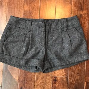 TCEC Shorts - Black and grey wool shorts
